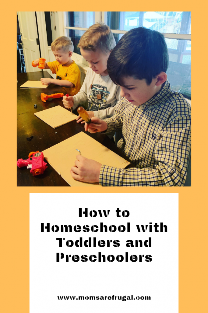 How to Homeschool Preschoolers and Toddlers