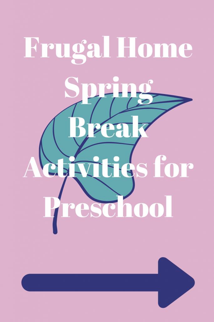 Frugal Home Activities for Preschool