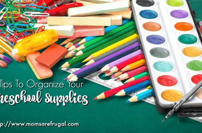 5 Tips To Organize Your Homeschool Supplies