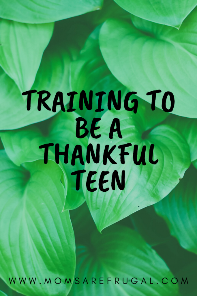 Training to be a thankful teen