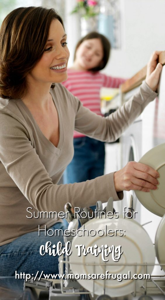 Summer Routines for Homeschoolers: Child Training