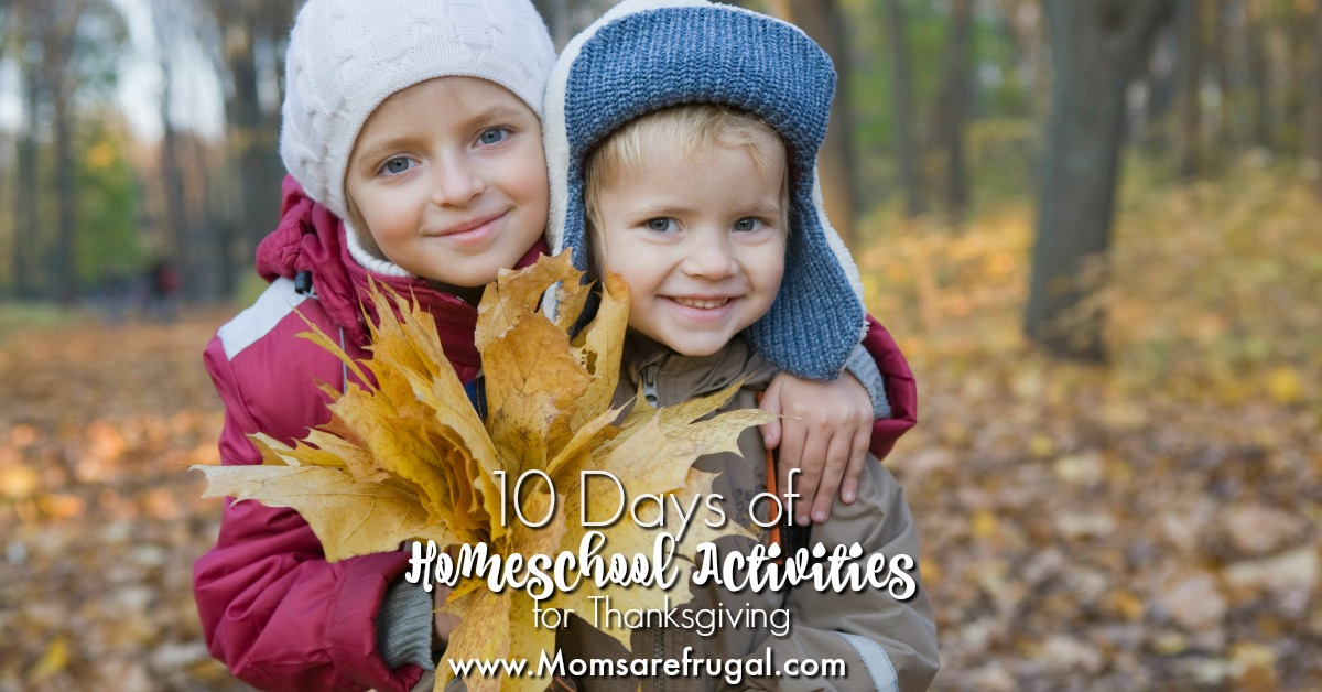 10 Days of Homeschool Activities for Thanksgiving