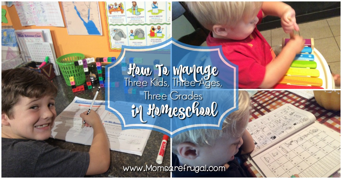 How To Manage Three Kids, Three Ages, Three Grades In Homeschool