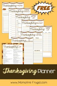 Moms Are Frugal Thanksgiving Planner