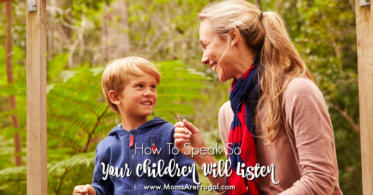 How to speak so your children will listen is training them to be respectful and listen to your voice when they are disobedient.