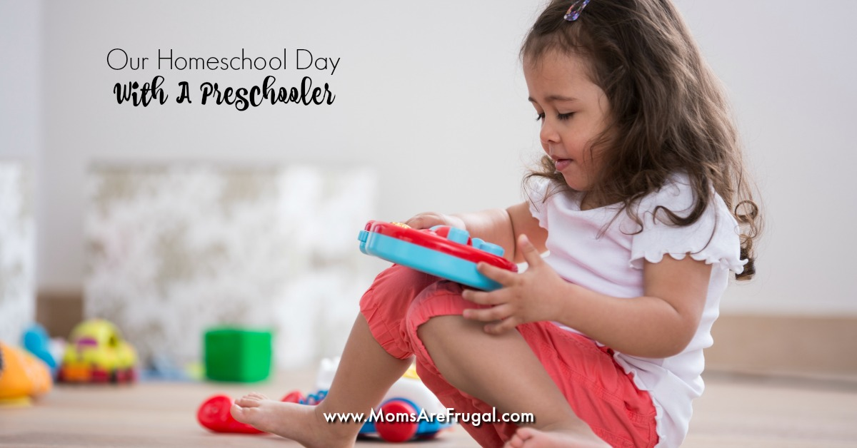 Teach your preschooler to play during homeschool will allow moms to focus more on the older children. Having a designated play area and space is important.