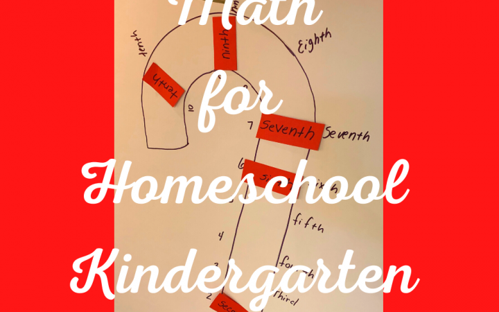Christmas Math for Homeschool Kindergarten