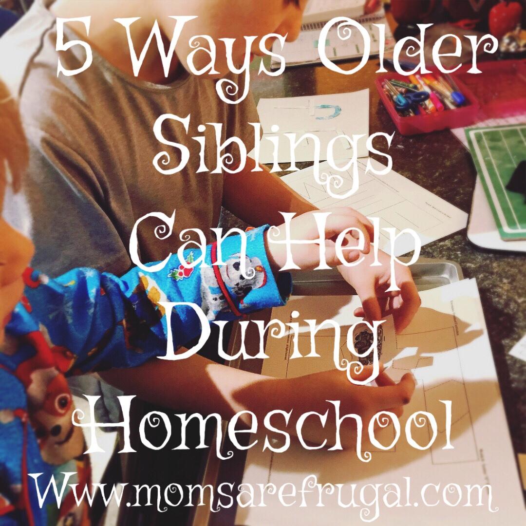 5 Ways  Older Siblings Help During Homeschool