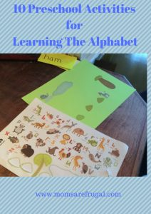 10 Preschool Activities for Learning the Alphabet
