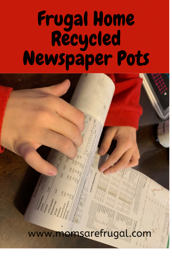 Frugal Home Recycled Newspaper Pots