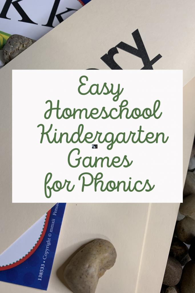 Easy Homeschool Kindergarten Games for Phonics