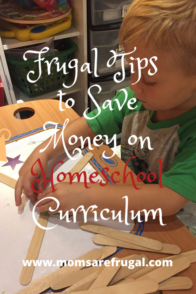 frugal tips to save money on homeschool curriculum