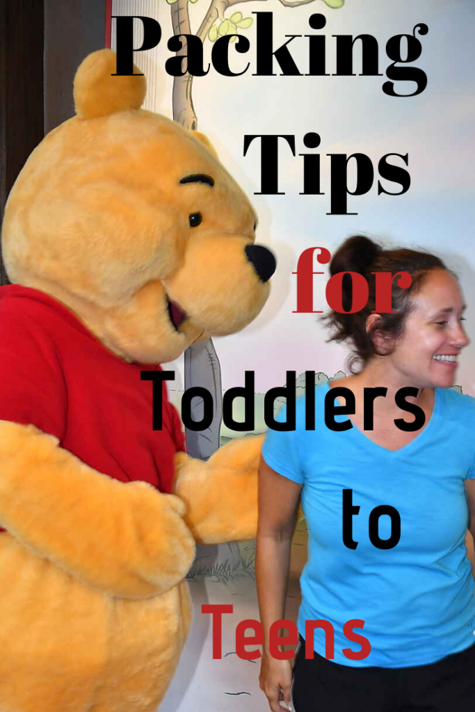 Packing Tips for Toddlers to Teens