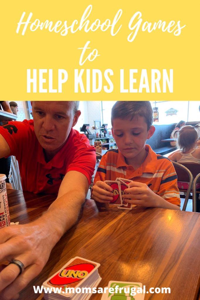 Homeschool Games to Help Kids Learn