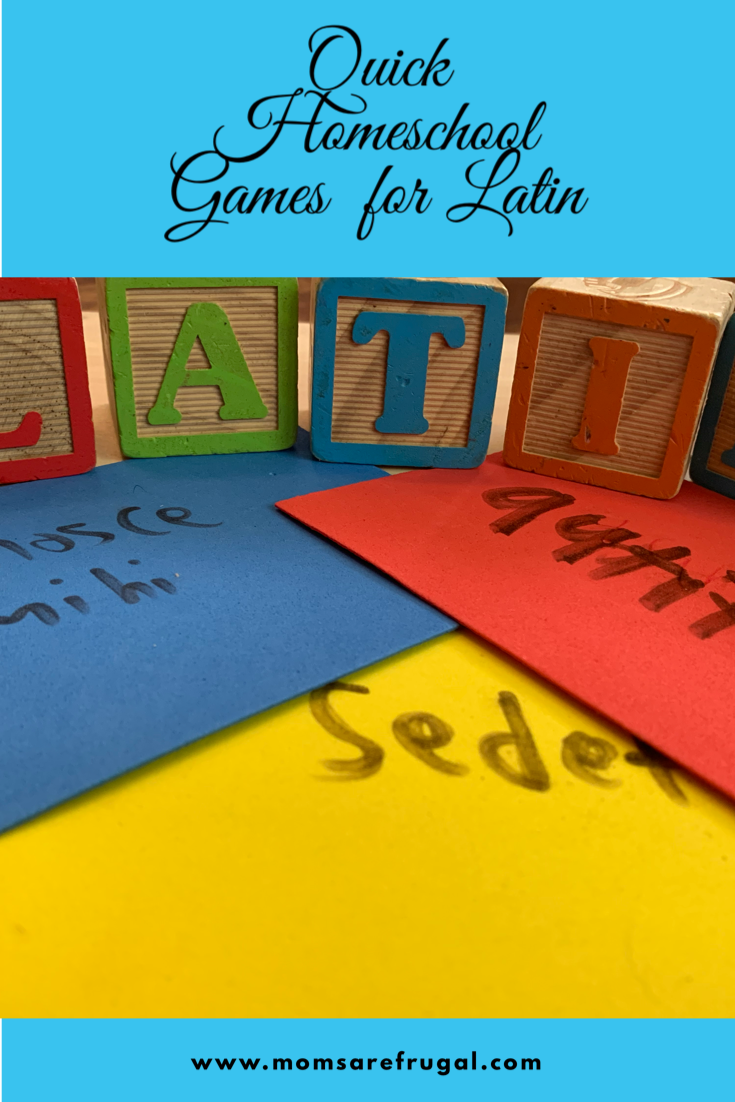 Homeschool Games for Latin