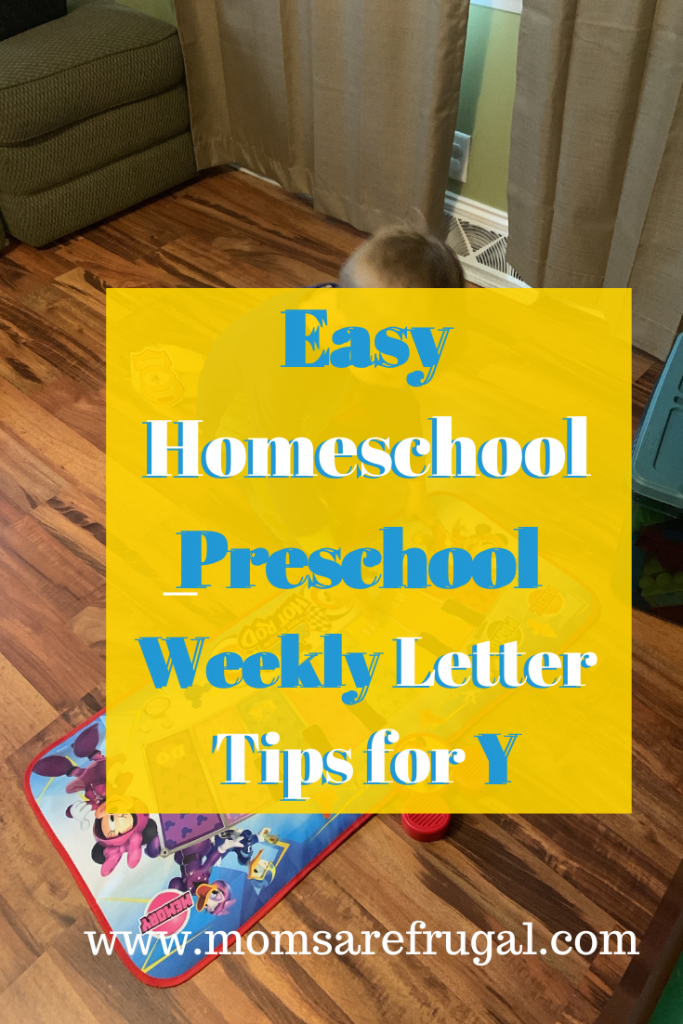 Easy Homeschool Preschool Weekly Letter Tips for Y