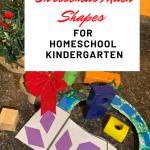 Christmas Shape Fun  for Homeschool Kindergarten