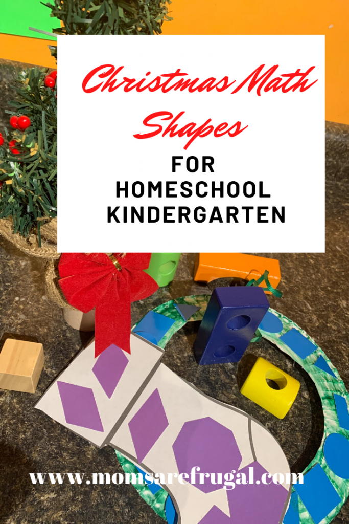 Christmas Math Shapes for Homeschool Kindergarten