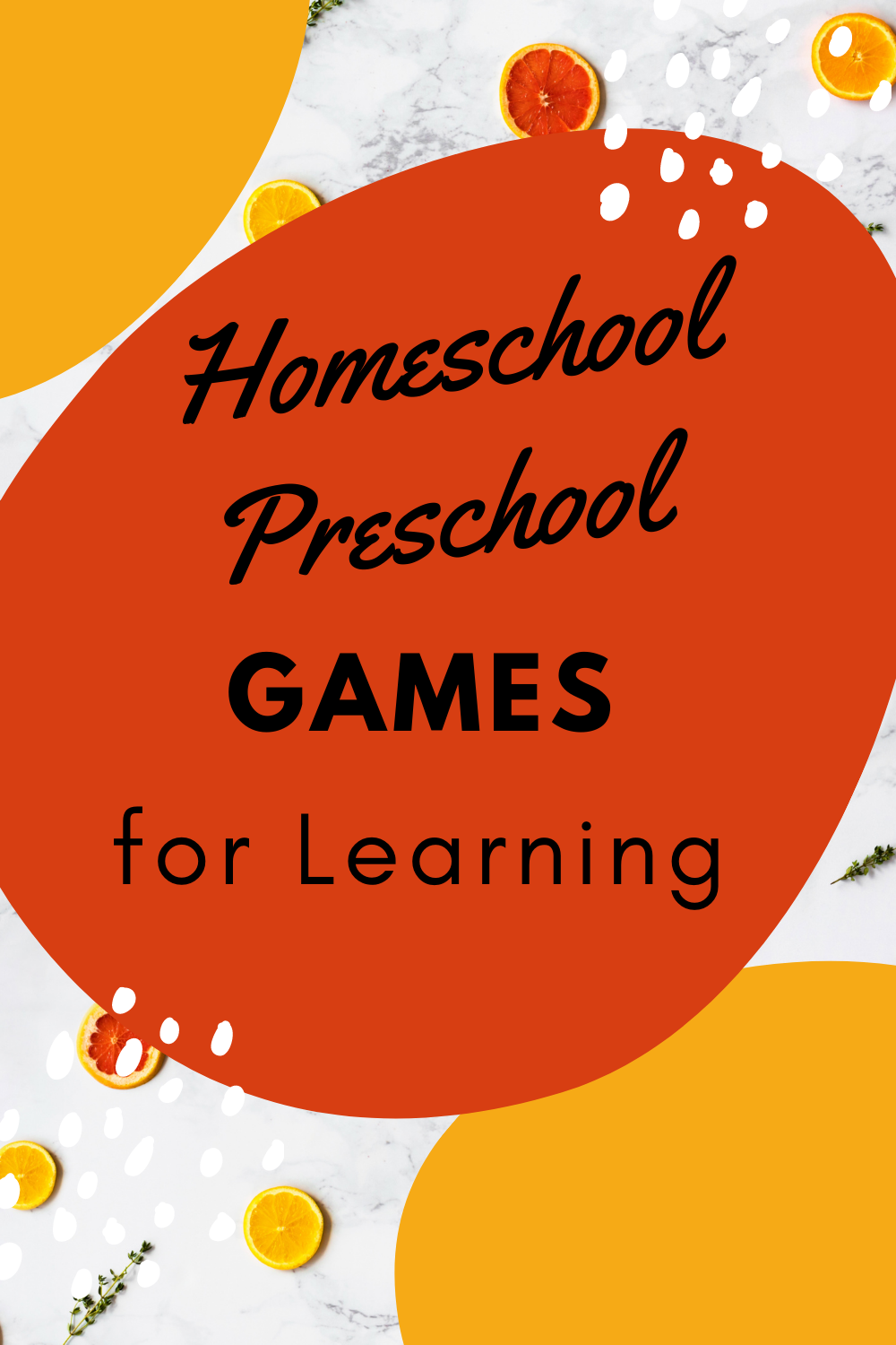 Homeschool Preschool Games for Learning