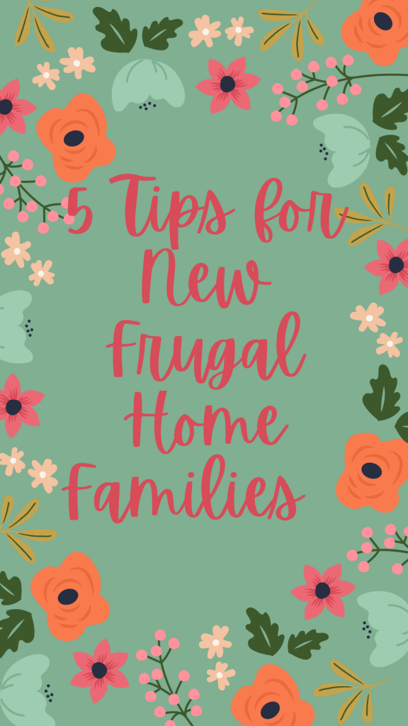 5 steps for New Frugal Home Families